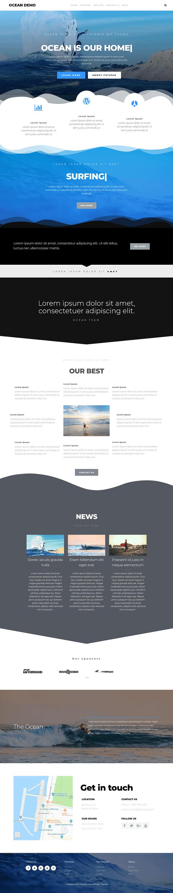 Futurio - Best Free Multipurpose WordPress Theme