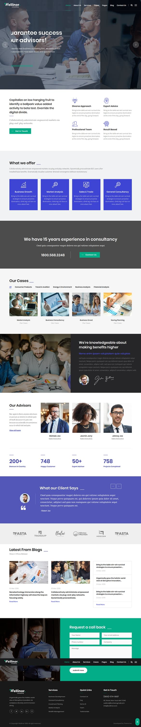 Wellinor - Best Premium Consulting WordPress Theme
