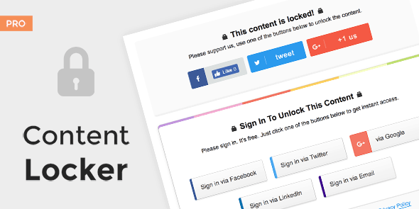 Content Locker Pro - Premium Powerful WordPress Plugin