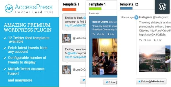 AccessPress Twitter Feed Pro - WordPress Twitter Feed Plugins
