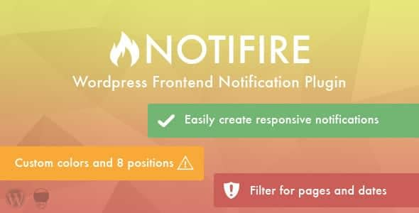 Best WordPress Notification Bar Plugin: Notifire