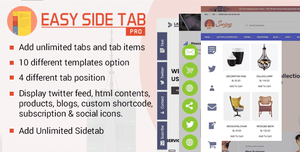 Easy Side Tab Pro – Responsive WordPress Floating Tab Plugin