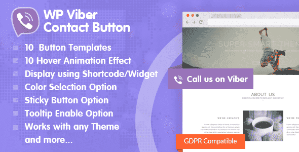 Best WordPress Viber Contact Button Plugin: WP Viber Contact Button