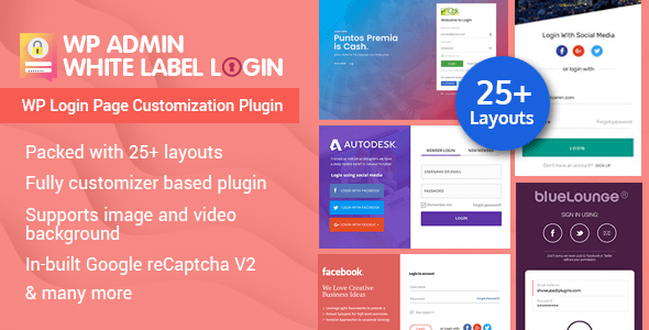WP Admin White Label Login - WordPress Login Page Customization Plugin