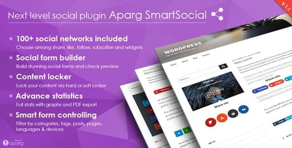 aparg smartsocial - 5+ Best WordPress Social Media Share/Counter Plugins (Premium Collection)