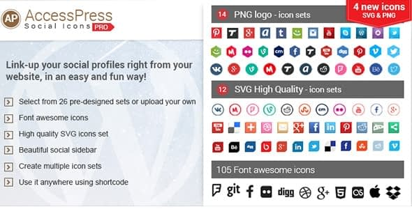 AccessPress Social Icons Pro - WordPress Social Icons Plugins