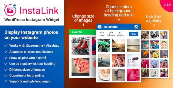 InstaLink - WordPress Instagram Feeds Plugins