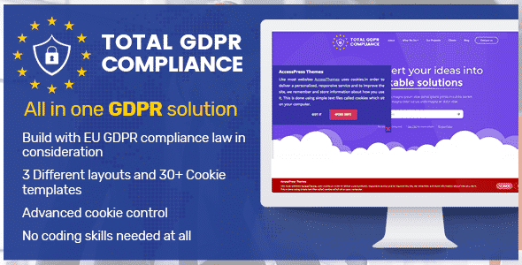 total gdpr compliance wordpress plugin banner - How to make your WordPress Website EU GDPR Compliance? (Step by Step Guide)