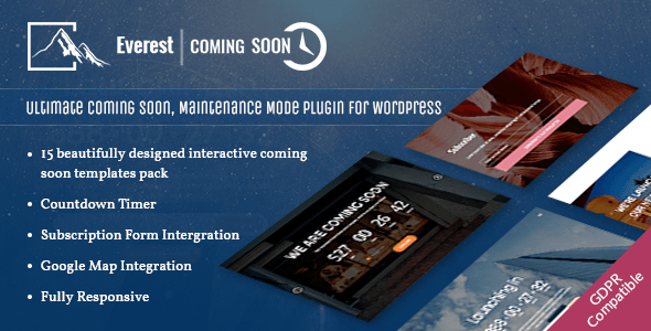 everest coming soon - 5+ Best Coming Soon & Maintenance Mode Plugins for WordPress