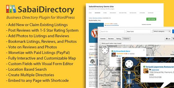 Best WordPress Business Directory Plugin: Sabai Directory