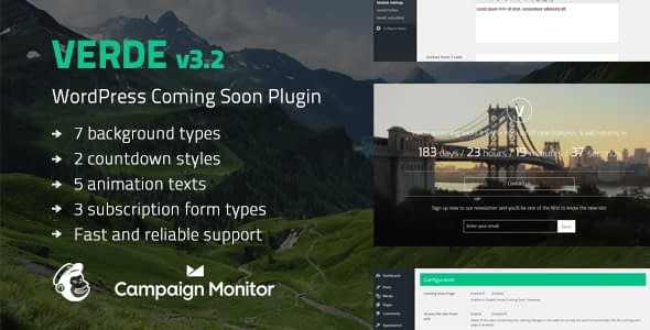 verde - 5+ Best Coming Soon & Maintenance Mode Plugins for WordPress