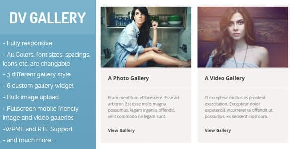 Best WordPress Gallery Plugin: DV Gallery
