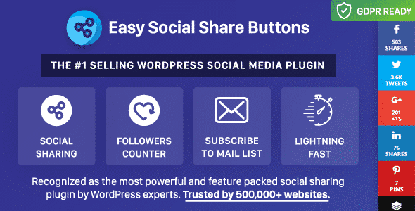 easy social share buttons - 5+ Best WordPress Social Media Share/Counter Plugins (Premium Collection)