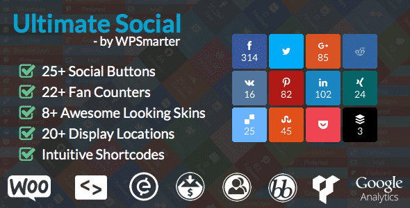 ultimate social - 5+ Best WordPress Social Media Share/Counter Plugins (Premium Collection)