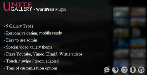 Best WordPress Gallery Plugin: Unite Gallery