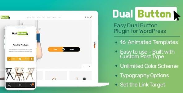 Eight Degree Dual Button - WordPress Dual Button Builder Plugin