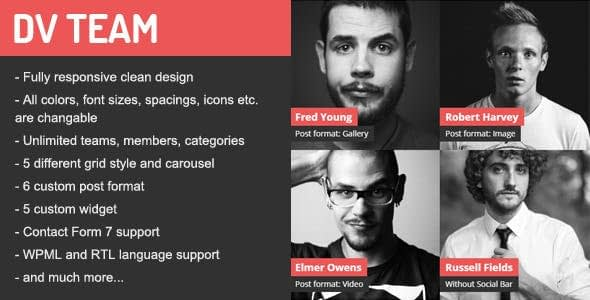 DV Team Best WordPress Team Showcase Plugin - 5+ Best WordPress Team Showcase Plugins