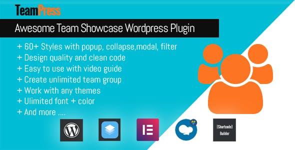 TeamPress Best WordPress Logo Showcase Plugin - 5+ Best WordPress Team Showcase Plugins