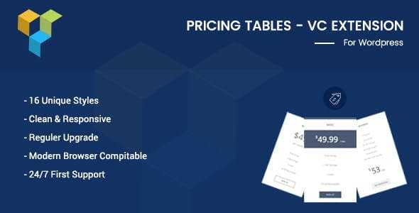 vc addons - 5+ Best Pricing Tables Addons for Visual Composer