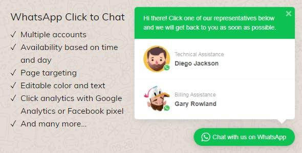 whatsapp click to chat for wordpress - 5+ Best WordPress WhatsApp Button Plugins