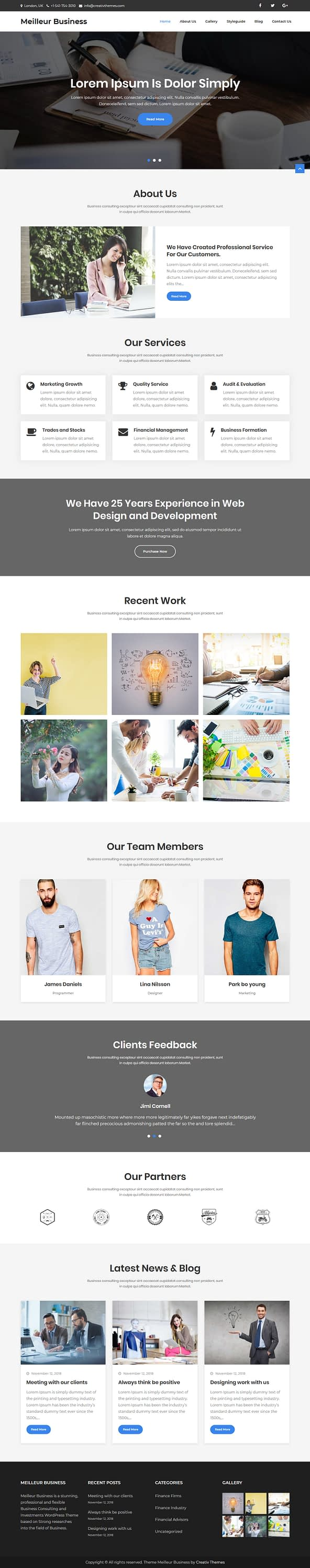 meilleur business best free accounting wordpress theme - 10+ Best Free Accounting WordPress Themes