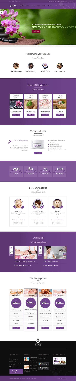 spa lab best premium spa beauty wordpress theme - 10+ Best Premium Spa and Beauty WordPress Themes