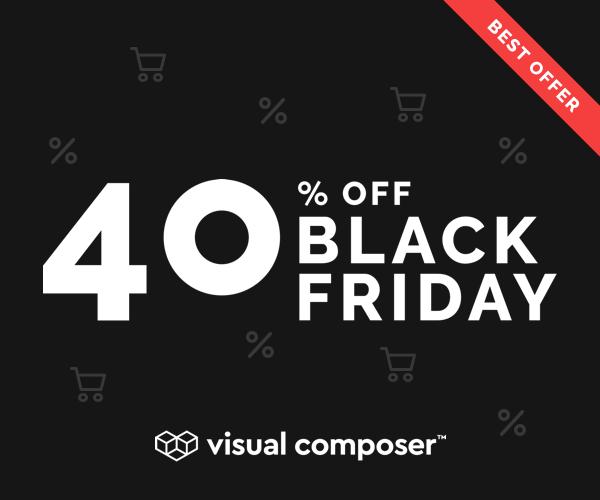 Visual Composer- Black Friday Deal 2019