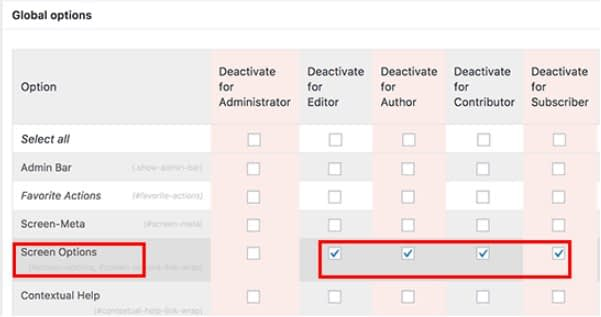 Disable the Screen Options Button in WordPress.... - How to Disable the Screen Options Button in WordPress?