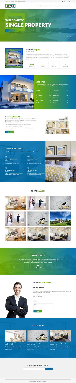 sopnovilla best premium home rental property wordpress theme - 10+ Best Premium Home Rental and Property WordPress Themes