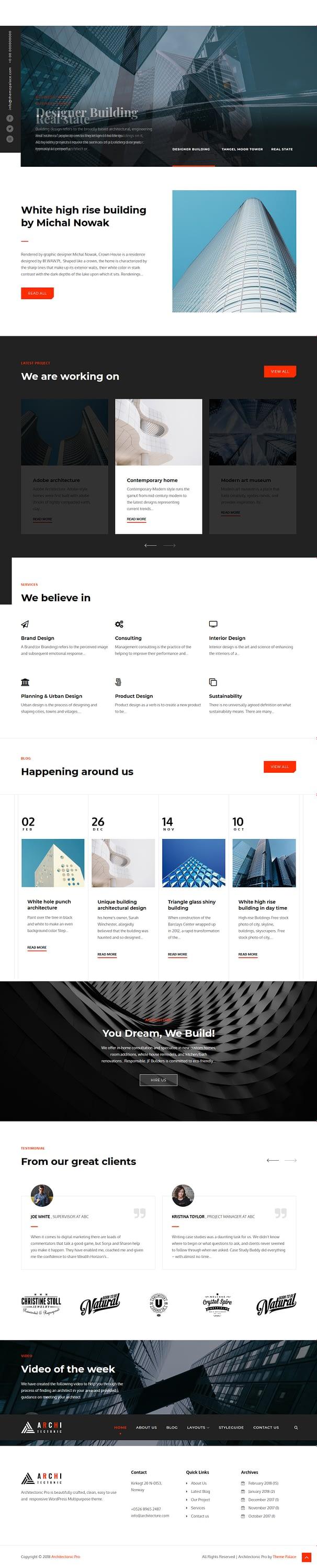 architectonic best free architecture wordpress theme - 10+ Best Free Architecture WordPress Themes