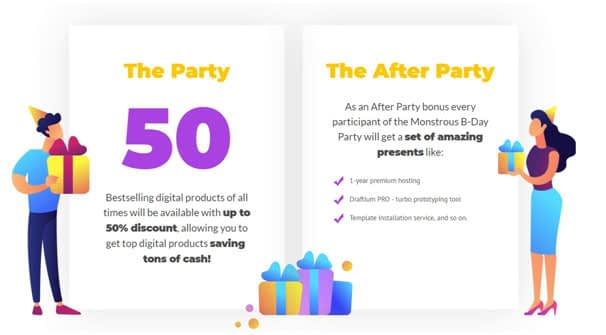 pre party tm birthday offer - How to Celebrate TemplateMonster's Anniversary at Its Best