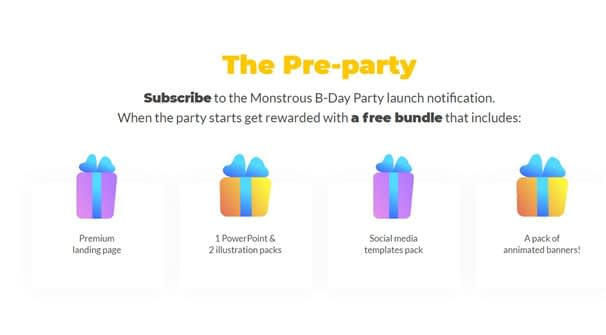 pre party tm birthday offers - How to Celebrate TemplateMonster's Anniversary at Its Best