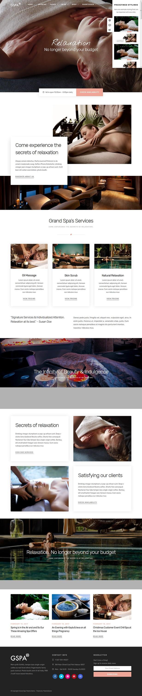 grand spa best premium spa beauty wordpress theme - 10+ Best Premium Spa and Beauty WordPress Themes