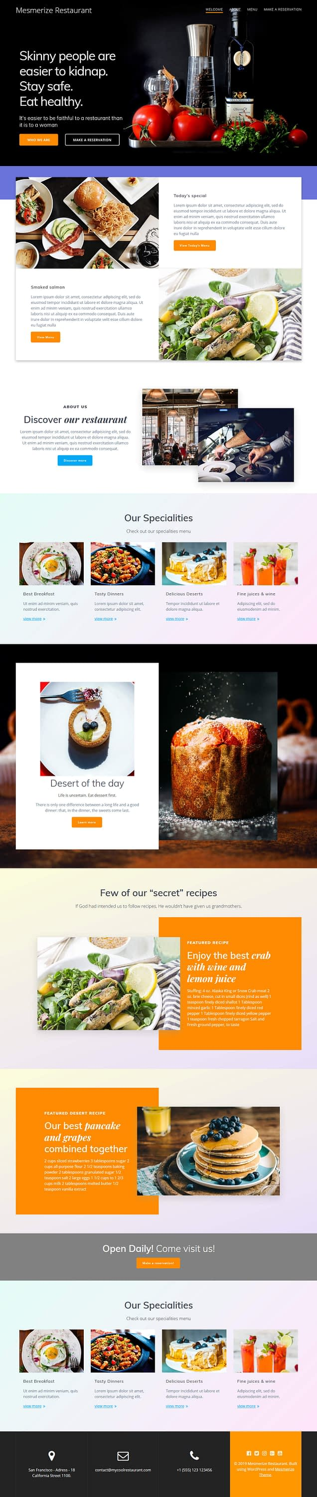 mesmerize - 15+ Best Free Multipurpose WordPress Themes and Templates