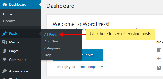 How to set the featured image in a page or post?