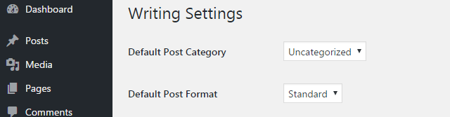 How to configure Writing settings in WordPress website
