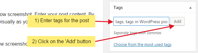 How to add tags to your WordPress post?