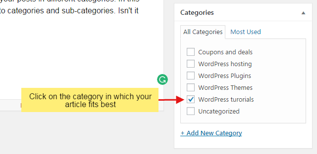 cc step 4 - How to organize your WordPress posts into categories