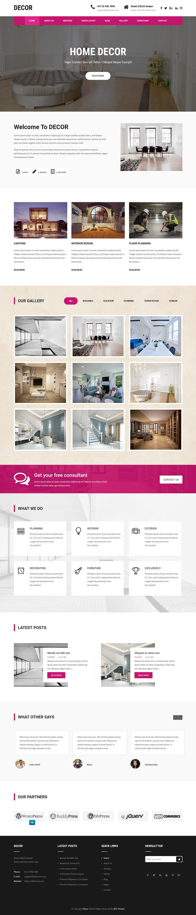 Decor Lite - Best Free Architecture WordPress Theme