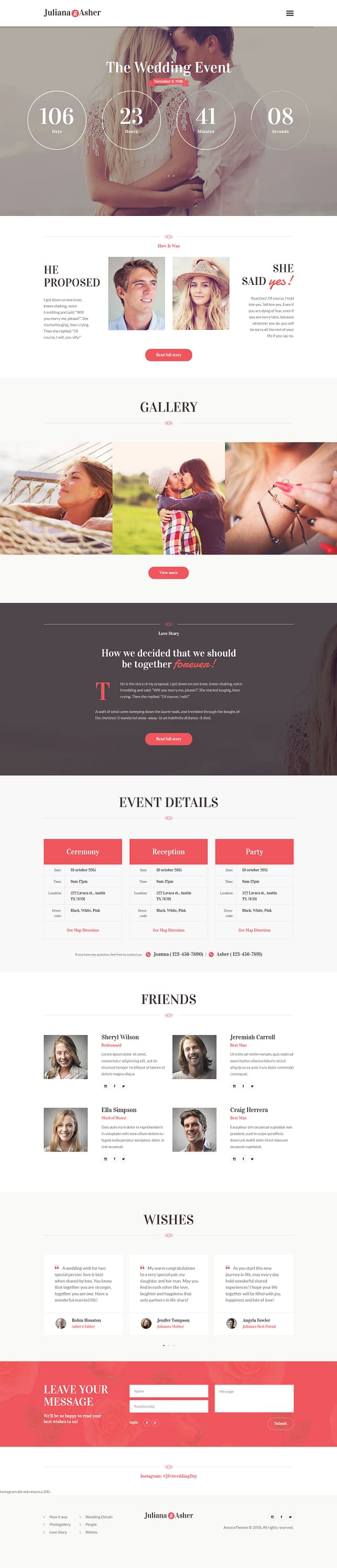 weddingevent best premium event wordpress theme - 10+ Best Premium Event WordPress Themes and Templates