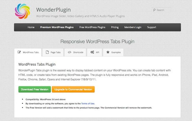 Wonder plugin