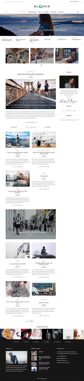 Bloger Pro - Best Premium Responsive WordPress Theme