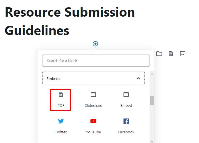 Add PDF Block