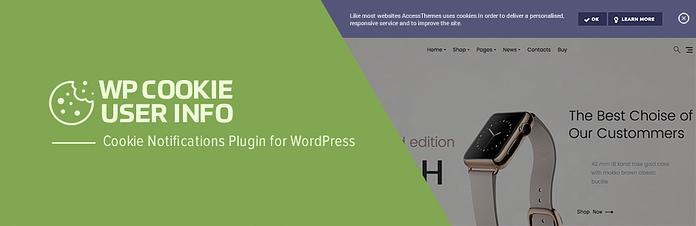 WP Cookie User Info – Free WordPress Cookie Notification Plugin