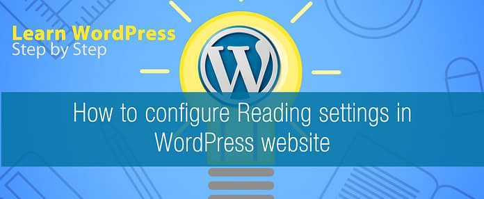 How to configure Reading settings in WordPress website