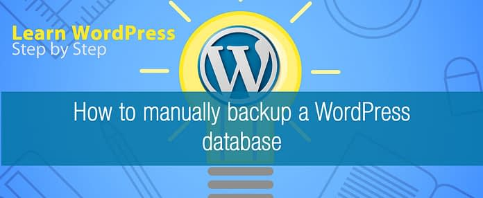 How to manually backup a WordPress database