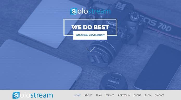 Wp-Soloone - Premium One Page WordPress Theme
