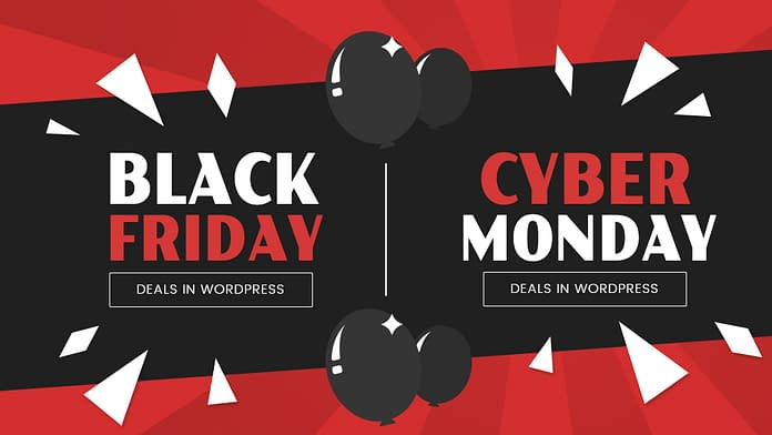 WordPress Deals for Black Friday and Cyber Monday Deal 2018