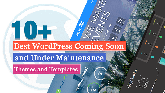 Best Coming Soon and Under Maintenance WordPress Themes and Templates(Free)