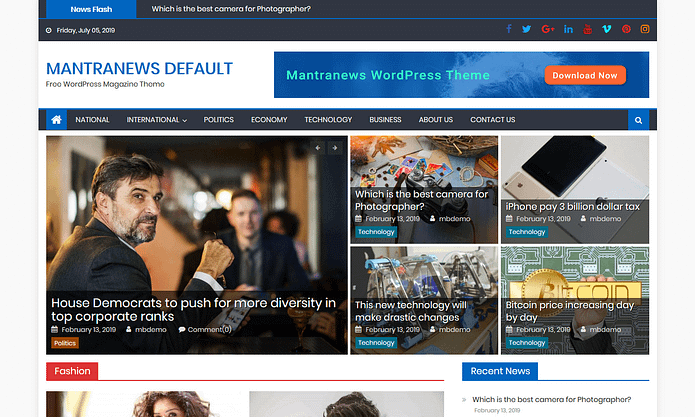 Mantranews - News WordPress Theme
